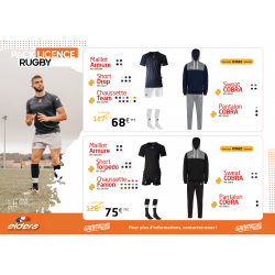 PACK LICENCE RUGBY 2