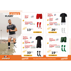 PACK LICENCE RUGBY 1
